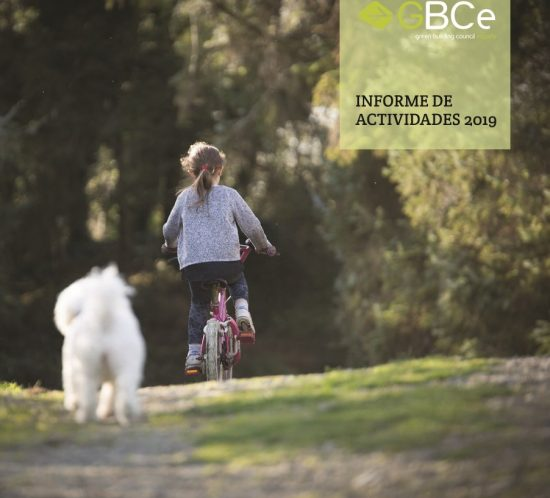 Portada informe de actividades GBCe 2019