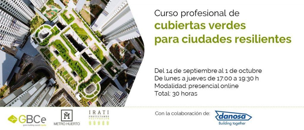 Curso profesional de cubiertas verdes para ciudades resilientes