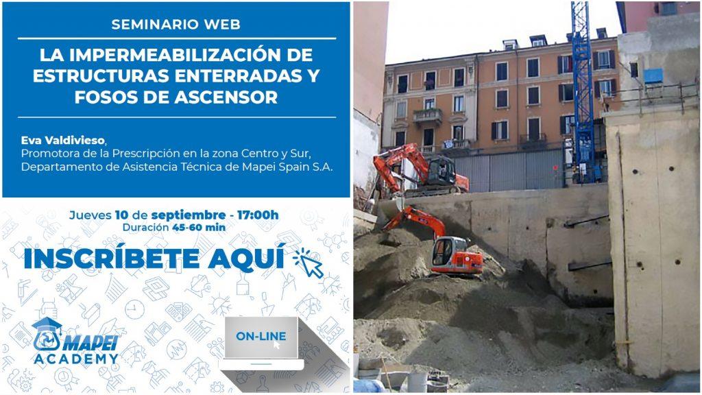 Impermeabilización de estructuras enterradas y fosos de ascensor