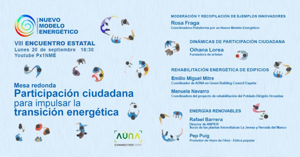 Mesa redonda participación ciudadana para impulsar la transición energética